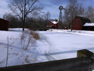 Mill race in winter